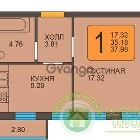 Продается квартира 1-ком 38 м² Пражский бульвар