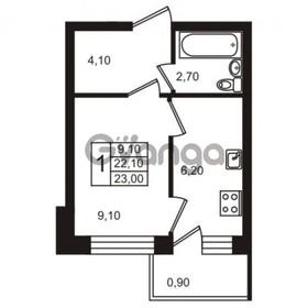 Продается квартира 1-ком 24 м² Тихая