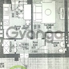Продается квартира 1-ком 33 м² новая