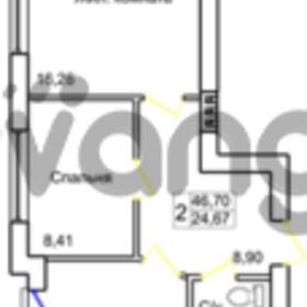 Продается квартира 2-ком 46 м² Левитана