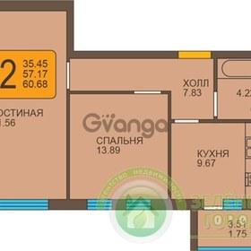 Продается квартира 2-ком 61 м² Пражский бульвар
