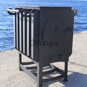 """Буржуйка """"Кормилица"""" с конвекцией+двойной дожиг печных газов, сталь 4мм"""
