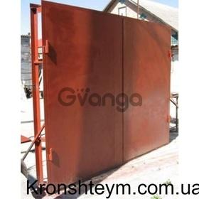 Ворота для гаража, гаражные распашные ворота с калиткой