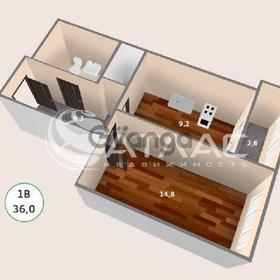 Продается квартира 1-ком 36 м² антонова ул.,4