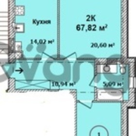 Продается квартира 2-ком 68 м² Тихоненко