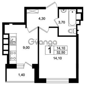 Продается квартира 1-ком 33 м² Цветочная 9