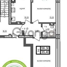 Продается квартира 2-ком 58 м² Советская