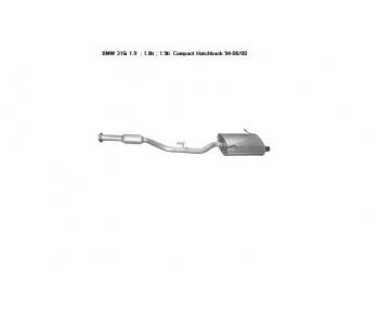 Глушитель конечный задний на БМВ 3 Е36 1.8, 1.9 л