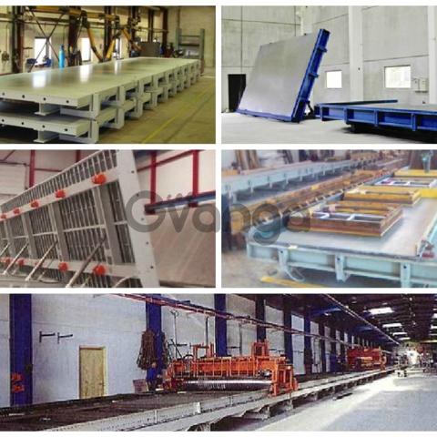 Оборудование для изготовления бетонных стеновых панелей Об