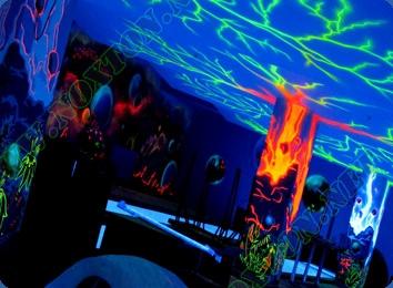 Ультрафиолетовые краски для внутренних работ