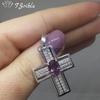 Серебряный крестик с александритом