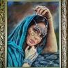 """Картина автора""""Принцесса Амира""""-пастель 50х40"""