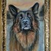 "Картина автора ""Лоран""-пастель,55х32"