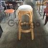 Продам круглый табурет б/у для кафе,бара,ресторана,клуба из бамбука с мягким сидением