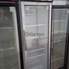 Продам б/у шкаф холодильный  UGUR  со стеклянными дверцами