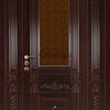 Эксклюзивные входные двери из титана с массивом дуба