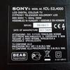 Телевизор SONY KDL-32L4000 запчасти