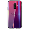 TPU+Glass чехол Gradient Aurora для Samsung Galaxy J8 (2018) Малиновый