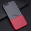 """Пластиковая накладка Half Color для Apple iPhone 6s (4.7"""") Черный / Красный"""