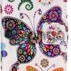 Чехол-книжка Edin c TPU креплением для Samsung A320 Galaxy A3 (2017) Орнамент бабочки