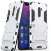 Ударопрочный чехол-подставка Transformer для Xiaomi Pocophone F1 с мощной защитой корпуса Серебряный / Satin Silver