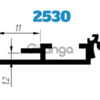База к 25 клику (2530) профиль алюминиевый база, анод
