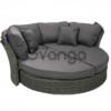 Раскладной садовый диван MUSE-2 с навесом и подушками