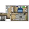 Стильная двухкомнатная квартира, отличный вариант для молодой семьи!