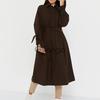 Пальто утепленное (артикул  66677799/шоколадный) - бежевый, M