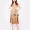 Платье-комбинация (артикул 15942151/бронзовый) - бронзовый, XS