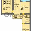 Продается квартира 3-ком 94 м² Старшины Дадаева