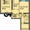 Продается квартира 3-ком 96 м² Дадаева