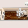 Продается квартира 1-ком 26 м² антонова ул.,4
