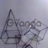 """форма для флорариума """"Усеченный куб"""""""