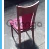 Червоні бу стільці для кафе
