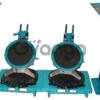 Лазерный стенд для контроля углов установки передних колес автомобиля Луч