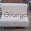 Продам серебристый матерчатый диван бу для кафе ресторанов