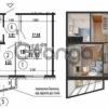 Продается квартира 1-ком 37 м² ул. Гмыри Бориса, стрпл11, метро Позняки