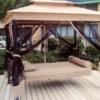 Раскладная садовая качеля шатер для кафе или дачи
