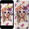 Чехол на iPhone 7 Девушка с цветами v2