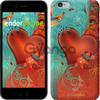 Чехол на iPhone 7 Сердце в цветах