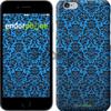 Чехол на iPhone 7 Синий узор барокко