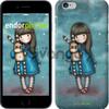 Чехол на iPhone 7 Девочка с зайчиком