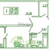 Продается квартира 1-ком 37 м² Каблукова