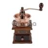 Кофемолка механическая с деревянным основанием