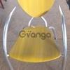 Стул бу для кафе алюминиевый сиденье дерево желтый